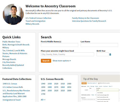 Ancestry K12 Search